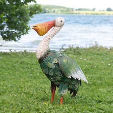 Large 48cm Pelican Bird Metal Garden Ornament Outdoor Seaside Sculpture Statue