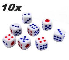 Lot 10 Pcs Plastic White 14mm D&D RPG Game Dice Casino Bar Crap