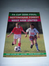 Away Teams FA Cup West Ham United Final Football Programmes