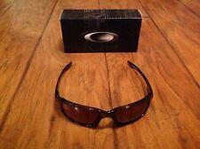 Oakley Women's Fives Squared Black Rectangle Sunglasses NEW