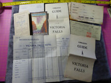 Collection of 1940s VICTORIA FALLS EPHEMERA Guide Hotel Receipt Travel Documents
