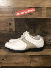 Fj Footjoy Superlites 98803 Women's Golf Shoes 8m White Beige Leather Size 8