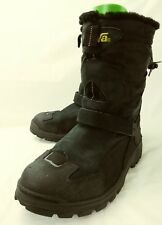 Teva mens Boots Winter 6631 US 8 Black Suede Pull On Elastic Faux Fur Top 2161