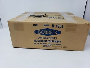 Bobrick 4354 Stainless Steel Partition-Mounted Sanitary Napkin Disposal