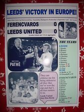 Ferencvaros 0 Leeds United 0 - 1968 Fairs Cup final second leg - souvenir print