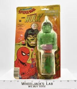 Bubble Machine Marvel Amazing Spiderman & Incredible Hulk Larami 1979 NEW MOSC
