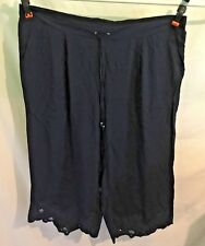"""AUTOGRAPH 3/4 NAVY BLUE """"CUT OUT HEM"""" CROP PANTS-SIZE 26-NWT NEW STOCK JUST IN!!"""