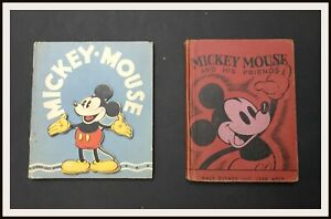 ⭐ MICKEY MOUSE Stand out book + MM his friends - Whitman 1936 - DISNEYANA.IT ⭐