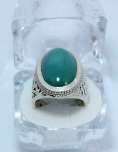Mens feroza turquoise ring Ultra clean and shiny big size 5 grams hussaini