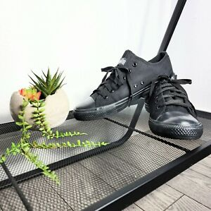 Converse All Star Unisex Black On Black Lace Up Sneakers M-10/W-12