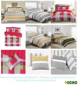 Duvet Cover Bedding Set Pillowcase Single Double King Size Stylish Quilt Cover