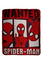 plaid polaire SPIDERMAN wanted 120 x 140 cm - neuf