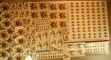Konvolut 220 Schiebebilder Abziehbilder Rosen Braunton zum Dekorieren Einbrennen