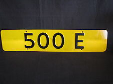 Showroom licence plate Mercedes-Benz 500 E (JS)