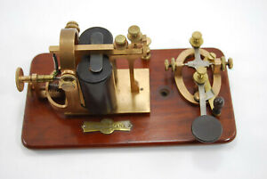 JH Bunnell KOB telegraph set with tall coils with provenance