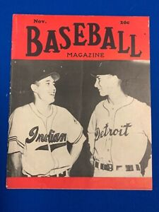 1946 Baseball Magazine Feller Indians