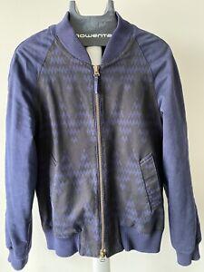 Ami Alexandre Mattiussi Cotton and Linen-Blend Twill Bomber Jacket