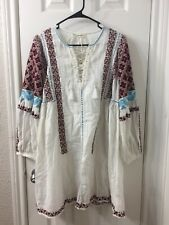 ulla johnson Embroidered White Dress Sz 6