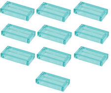 ☀️NEW 10x Pieces Lego Smooth Tile 1x2 TRANS LIGHT BLUE Ice