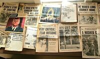 Lot of 27 Vintage 1960s JFK & RFK Newspapers & Over A Dozen Articles