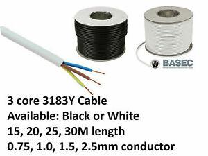 QC - ROUND FLEXIBLE CABLE 2 3 4 5 CORE    BLACK&WHITE