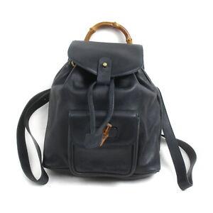 Gucci BackPack Bag pretty Black Leather 1519746
