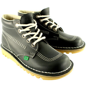 Mens Kickers Kick Hi Leather Classic Oxfords Office Work Boots Shoes US 7-13