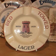 1930's RED TOWER LAGER..PICTORIAL ASHTRAY..SUPERB.