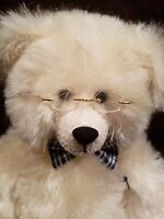 """White Bear named Colton by Jean Gadano and Mitsy Fry 14"""" Made by Tabby Bears"""