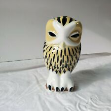 Sargadelos McM mid-century modern Modernist OWL figure Rare w/paperwork
