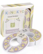 New listing Kinokyo Baby Closet Dividers Set of 7 Age: Newborn 0-3 3-6 6-9 9-12 12-18 18-24
