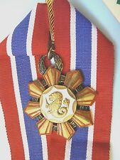PHILIPPINES REPUBLIC, ORDER LEGION OF HONOR, 1st class, extremely rare