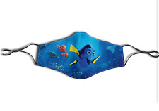 Custom Printed Dory Finding Nemo Face Mask Adult/Kids Washable Adjustable