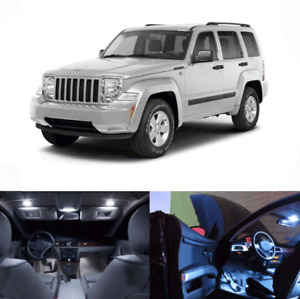 LED White Lights Interior Package Kit For Jeep Liberty 2008-2012 12 pcs
