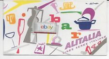ALITALIA PRIMA CLASSE FIRST CLASS 1950'S MENU/DUTY FREE/CIGARETTES M.DETUDDO