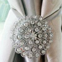 Magnetic Curtain Tieback Crystal Window Buckle Clips Holdbacks Home Creative New