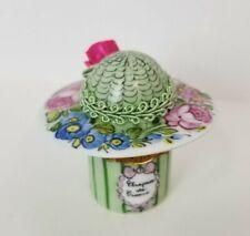 Limoges France hand painted hat trinket box