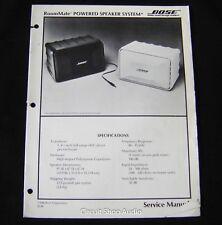 Original Bose Roommate Powered Speaker System Service Manual