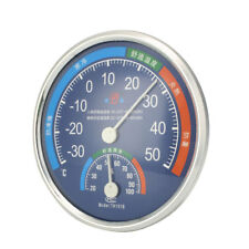 Large Round Thermometer Hygrometer Indoor Outdoor Temperature Humidity Meter*