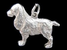 Spaniel Dog charm Sterling silver 925 charmmakers 3D