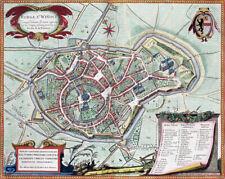 Reproduction plan ancien - Bergues vers 1649