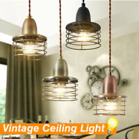 Vintage Loft Pendant Light Cage Hanging Ceiling Lamp For Coffee Bar  F R