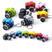 Mini Camera With Flash Light Lucky Cute Charm LED Luminous Keychains Gift JT