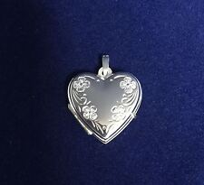 NEW Sterling Silver Heart Locket Suitable For Two photos Family Love Portrait