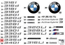 Genuine BMW F31 F31N Trunk Lid 335d Emblem Badge Logo Sign OEM 51147289897