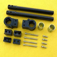 Universal Motorcycle 31mm Fork Tube Clip Ons Handle Bar Handlebars Matt Black