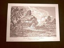 Veduta Capitello e rovine Tempio Giganti Agrigento Sicilia Litografia Saint-Non