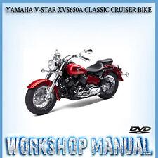 YAMAHA V-STAR XVS650A CLASSIC CRUISER BIKE WORKSHOP SERVICE MANUAL IN DVD