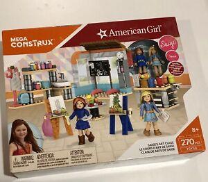 American Girl Saige's Art Class Mega Construx Rare Set
