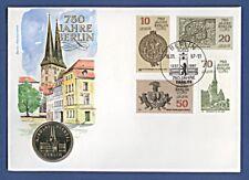 Numisbrief 750 Jahre Berlin Nikolaiviertel 5 DDR-Mark A + Stempel 1987 NBA8/57